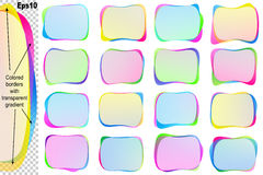 Rectangle Speech Bubble Text Balloon Blob Banner Sticker Icon Se Royalty Free Stock Photo