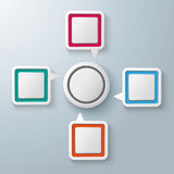 Rectangle Speech Bubbles Centre Circle Infographic Royalty Free Stock Photography