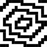 Black and white weave pattern background vector. Rectangle and square pattern background, geometric pattern background Royalty Free Stock Photo