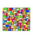 Rectangle - Stain Glass. Colourful background design good for wallpaper background design etc Stock Images