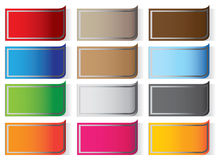 Rectangle sticker labels Royalty Free Stock Photo