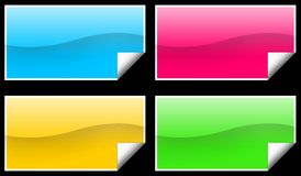 Rectangle stickers Stock Photography