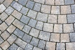 Rectangle stone pavement Royalty Free Stock Images