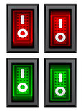 Rectangle toggle power switches Stock Photos