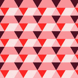 Rectangle triangle pattern rose Stock Image