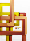 Rectangle tube elements, vector background. Rectangle tube elements, vector 3d background Royalty Free Stock Photo