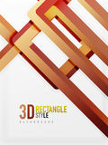 Rectangle tube elements, vector background. Rectangle tube elements, vector 3d background Stock Images