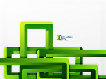 Rectangle tube elements, vector background. Rectangle tube elements, vector 3d background Stock Photos