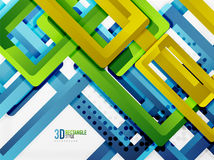 Rectangle tube elements, vector background. Rectangle tube elements, vector 3d background Royalty Free Stock Photography