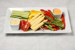 Rectangle vegetable plate Royalty Free Stock Photography