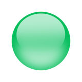 Rectangle water. Green button that appears water Stock Image