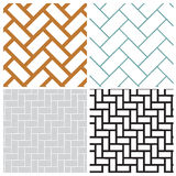 Rectangle weave overlap vector pattern Stock Image