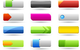 Rectangle web buttons Royalty Free Stock Photo