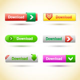 Rectangle web buttons set. Royalty Free Stock Image