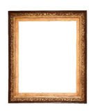 Rectangle wooden frame. Gold museum frame Stock Photography