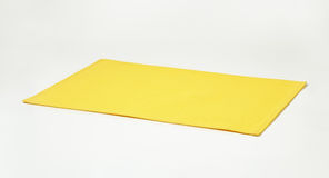 Rectangle yellow placemat Stock Photography