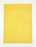 Rectangle yellow placemat Royalty Free Stock Images