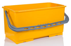 Rectangle Yellow Plastic bucket Stock Photo