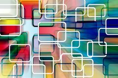 Rectangles  abstract background illustration Royalty Free Stock Images