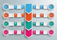 Rectangles Banners Gears Arrows Big Infographic Royalty Free Stock Photography