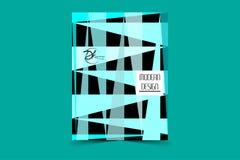 Rectangles bleus 2 Fond de triangle illustration libre de droits