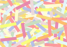Rectangles in Candy Colors crisscross stacked Stock Image