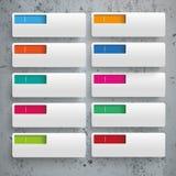 Rectangles Colored Holes 10 Options Concrete Stock Photos