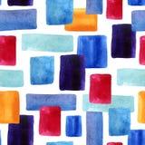 Rectangles d'aquarelle avec le bacground de papier de texture Photographie stock