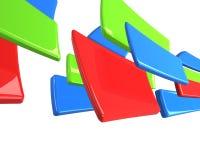 rectangles d'isolement de vert bleu rouges Photo libre de droits
