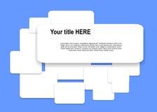 Rectangles de papier Photos libres de droits