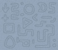 Rectangles, formes et flèches Image stock