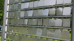 Rectangles of metal stock video footage