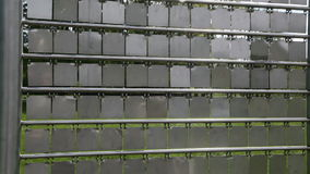 Rectangles of metal stock footage