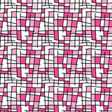 Rectangles seamless background pink Royalty Free Stock Images
