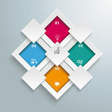 Rectangles Template 4 Options Centre 4 Additions Stock Images