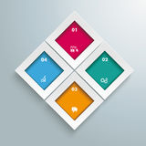 Rectangles Template 4 Options Infographic Royalty Free Stock Photos