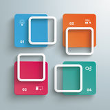 Rectangles Window Cycle. Colored squares on the grey background royalty free illustration