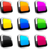 Rectangular 3d buttons. Royalty Free Stock Image