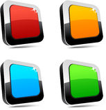 Rectangular 3d buttons. Stock Photos