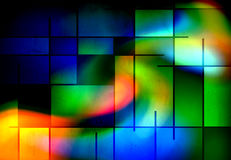 Rectangular Abstract. Rectangular Multi hued Mondrian like Abstract Stock Photography