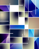 Rectangular Abstract. Rectangular Mondrian Like Abstract with a Twist Royalty Free Stock Image