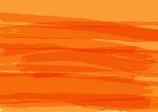 Rectangular abstract orange background. Brush strokes, watercolor, paint, ink, grunge. Stock Photo