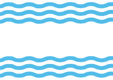 Rectangular background with horizontal waves. Drawn by hand. Stock Images