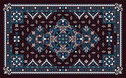 Rectangular Bandana Print vector design for rug, carpet, tapis, shawl, towel, textile, yoga mat. Neck scarf or kerchief pattern