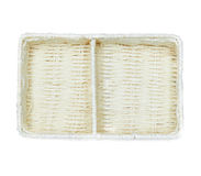 Rectangular basket Royalty Free Stock Images