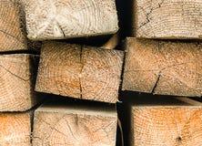 Rectangular beams wooden block building materials with pattern. Rectangular beams wooden block building materials with natural pattern Royalty Free Stock Images