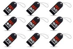 Rectangular Black Friday Sales Tag Set Stock Images
