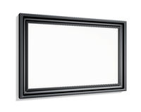 Rectangular black picture frame on a white background. 3d render Stock Photo