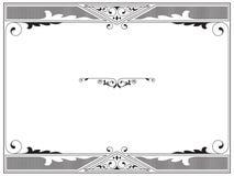 Rectangular black and white frame Stock Photography