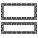 Rectangular black and white frames, geometric pattern. Different proportions Stock Photo